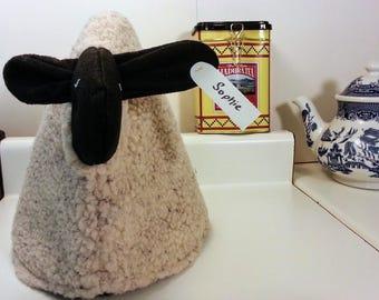 Sheep tea cozy, tea cosy: Sophie the sheep cozy