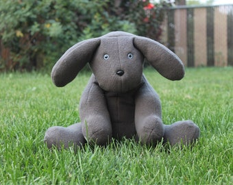Best Friend Grey Stuffed Dog