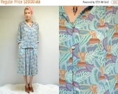 sale 25% off - 80s Blouse and Skirt Set  //  Chiffon Two Piece Dress  // ELEPHANT OASIS