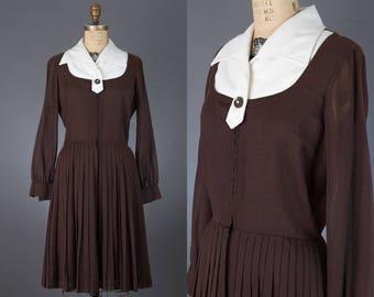 vintage 1960s espresso dress