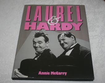 "Vintage Hardcover Book with Dust Jacket "" Laurel and Hardy "" by Annie McGarry 1992 Stan Laurel and Oliver Hardy"