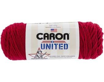 Acrylic Yarn Cherry Red 6007 Caron United Yarn