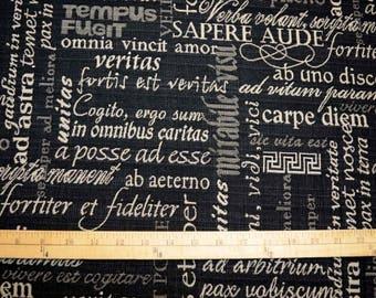 Trilogy Black White Script Fabric