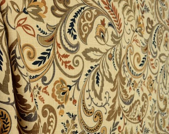 Findlay Saddle Floral Scroll Fabric