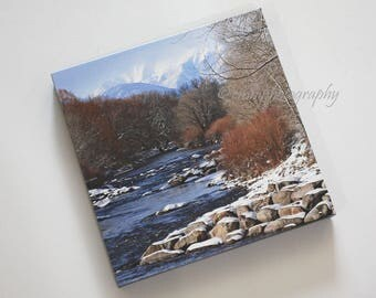 Salida Colorado and the Arkansas River in Winter - Landscape - Rocky Mountains - 10x10 Canvas Wrap - In Stock & Ready to Ship