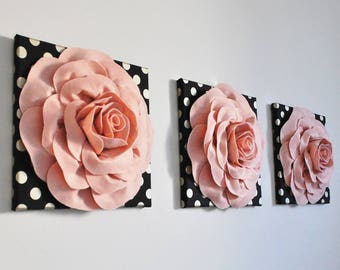 Rose Gold Decor, Rose Gold Canvas Set, Rose Gold Wall Art, Rose Gold Print, Rose Gold Wall Art, Rose Gold Poster, Rose Gold Nursery Art