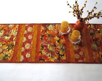 Table Runner   Fall Table Runner   Quilted Table Runner   Handmade Table Runner    Home Decor Gift   Floral Table Runner   Table Linen