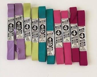 Vintage Seam Binding, Ribbon, lot, mix, group, NOS,