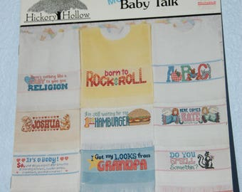MORE BABY TALK - Cross Stitch Patterns for Bibs