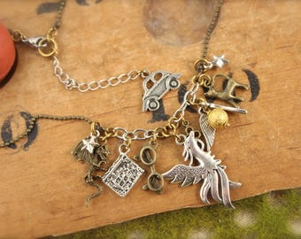 Harry Potter Inspired Charm Necklace
