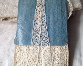 Antique Lace, Vintage Lace Trim/ Off White Bobbin Lace Border / Vintage Wedding, Dolls & Bears/ Home Furnishings / Old New Stock!