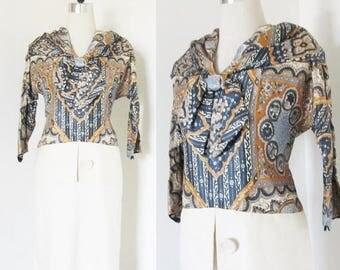 40% OFF SALE Vintage 1960's Paisley Shift Day Dress / Novelty Print Classic Casual Secretary Dress Size Medium