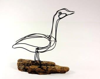 Goose Wire Sculpture, Wire Art, Minimal Wire Sculpture, Calder Inspired, 539370893