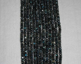 Labradorite, Diamond Labradorite, Faceted Rondelle, Labradorite Rondelle, Natural Stone, Semi Precious, Half Strand, 6.5-7mm, AdrianasBeads