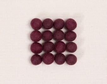 Felt Balls // Vineyard Purple // Felt Pom, DIY Garland, Felt Flower Supplies, Purple Pom Poms, Felt Beads, Kids Crafts, Mobile DIY, Projects