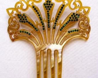 Art Deco Spanish style hair comb hair accessory hair ornament decorative comb hair pin hair pick hair fork