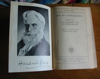 SEX IN CIVILIZATION 1929 Sex Emancipation For Women Vintage Womens Lib Book Social Evolution Sex and Psychoanalysis Vintage Sex Theories