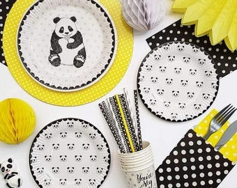 Panda Plate Paper 7 inches pack of 10