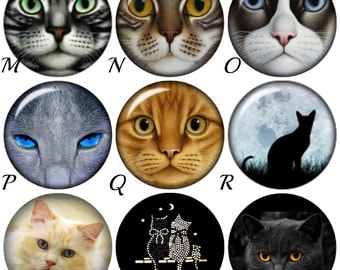 Cat snap charms for your Magnolia & Vine or Gingersnap style jewelry. 20 mm snap buttons will fit other brands of snap jewelry