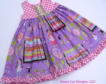 Princess and the Pea Dress,Toddler Dress,Girls Dress,Girls Clothing,Little Girl Dress,Purple,Size 4T RTS,Sizes 12MO,18MO,2T,3T,4T,5T,6,7,8