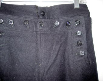 Vintage pair of blue wool Navy Pants