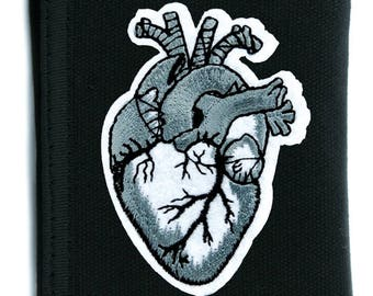 Anatomical Human Heart Tri-fold Wallet with Chain - DYS-PA-300-WALLET