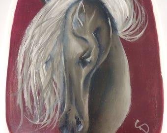 Painted Horse/ Horse Jewelry Box/ Horse Trinket Box/ Horse Keepsake Box/ Jewelry Keeper/ Jewelry Box/ Horse Art Box/ Hand Painted Horse Box
