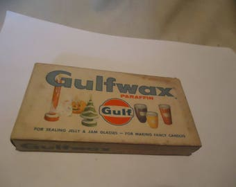 Vintage Gulf Wax In Unopened Package, collectable