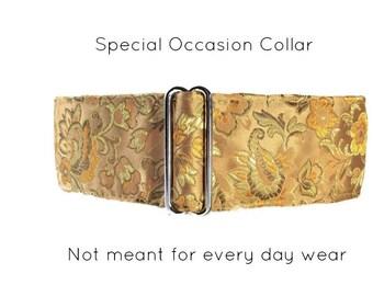 Gold Martingale Collar, Silk Martingale Collar, Gold Greyhound Collar, Silk Dog Collar, Silk Brocade, Custom Dog Collar
