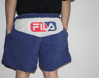 90s VTG Fila Sportswear Swim Trunks Hip Hop Shorts - 1990s Fila - 90s Clothing - MV0428