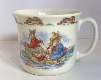 Vintage Bunnykins by Royal Doulton  Rowboat Mug  one handle mug