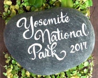 hand lettered wedding stones, rocks, personalized river stones