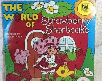 SUMMER SALE 1980 Strawberry Shortcake Vinyl Record Album The World of Strawberry Shortcake