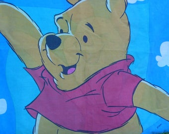 Winnie the Pooh and Piglet vintag standard pillowcase Disney pillowcase for pillow or repurpose Winnie the Pooh willy nilly silly old bear