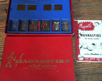 Vintage Magnastiks Ohio Art Magnet Builder Kit