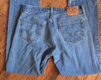 Vintage Levi's 501 Button Fly Jeans 36 x 33