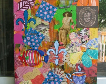 Original Mixed Media Collage/Painting/Mixed Media/Collage