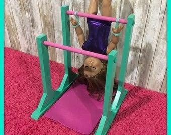 Pink Gymnastics Bar Hand Grips For American Girl 18