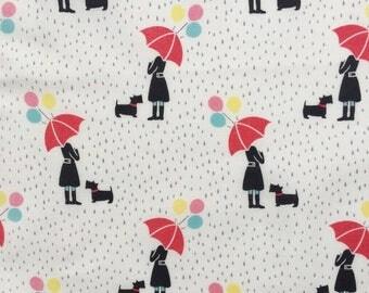 April Showers Under the Umbrella cream Lewis and Irene fabric FQ or more