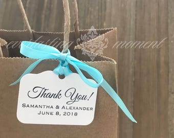 Thank you favor tags - gift tags - wedding favor tags - personalized tags - baby shower thank you tags - baptism thank you tags