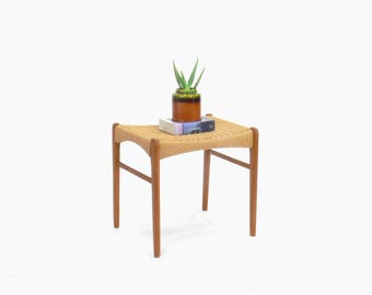 Danish Teak Stool by Peder Kristensen for Glyngore Stolefabrik