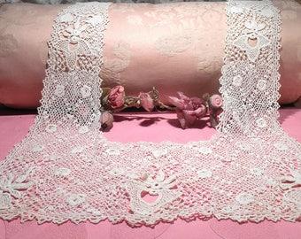 Antique Lace Irish Cotton Lace Edwardian Modesty