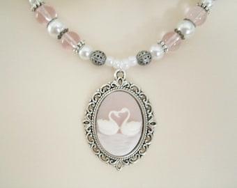 Swan Fidelity Necklace, victorian jewelry art nouveau jewelry edwardian jewelry renaissance jewelry art deco necklace neo victorian necklace