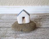 clay house, ceramic houses miniature house, tiny house, clay house, handmade ceramic house, pottery house, housewarming, small building