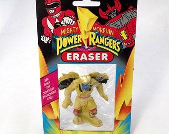 Mighty Morphin Power Rangers Eraser 1993 Noteworthy Vilian Evil onster Standing Action Figure 1990s 90s Retro Stationary Goldar Monster