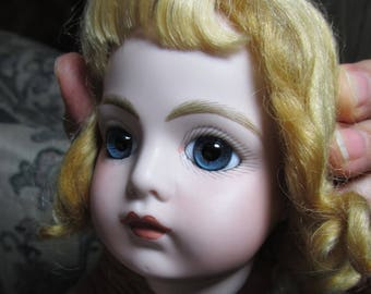 Bru doll head reproduction head a beauty with paperweight eyes