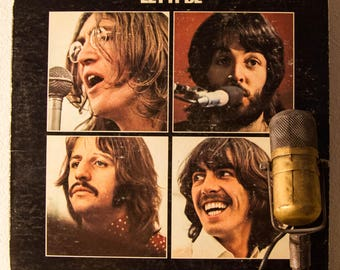 "ON SALE The Beatles Vinyl Record Album LP 1970s British Classic Rock ""Let it Be"" (1970 Apple 1st Pressing w/""Get Back"", ""The Long and WIndin"
