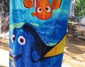 Childrens Beach Towel- Finding Dory- with Nemo- Personalized