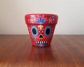 Miniature Sugar Skull Plant Pot
