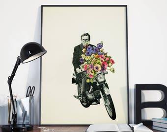 Pop Art Print, Motorcycle Art - Pimp My Ride